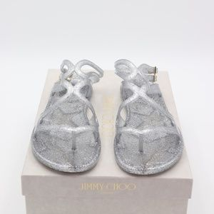 f428b1087c4e Jimmy Choo Shoes - Jimmy Choo Lance Metallic Glitter Jelly Sandals